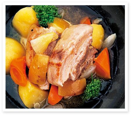 豚ばら肉の塩床レモン白ワイン煮イメージ