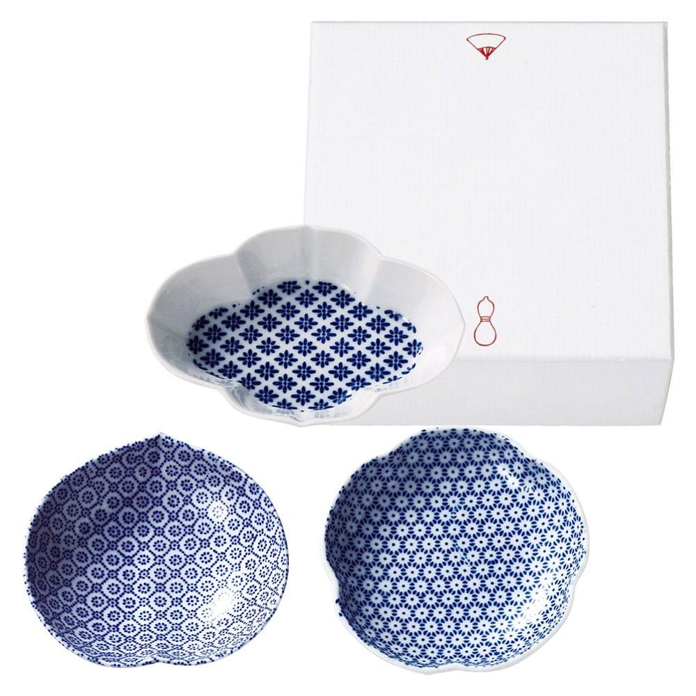 印判豆皿セット(梅/木瓜/桃)