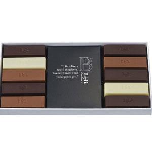 チョコレート詰合せ 10種10本入り