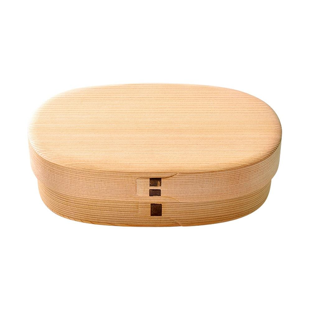 白木の小判弁当箱(中)