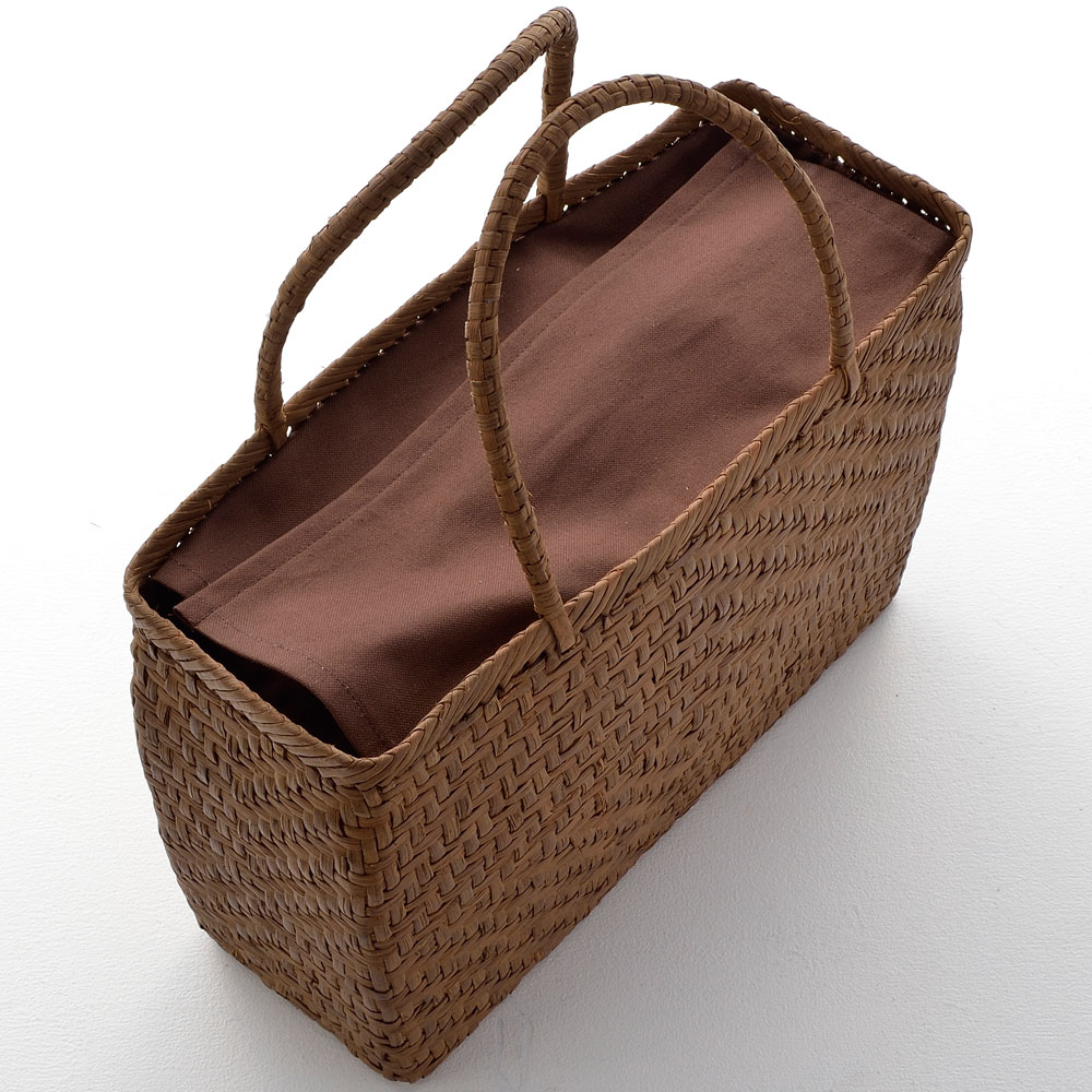 山ぶどう籠バッグ 菱形網代編み