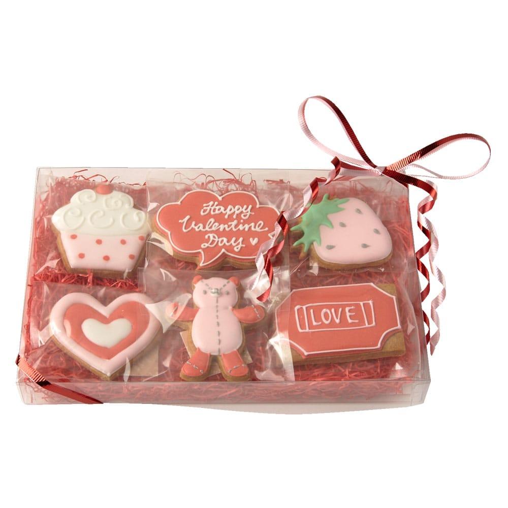 バレンタインアイシングクッキー6枚入り