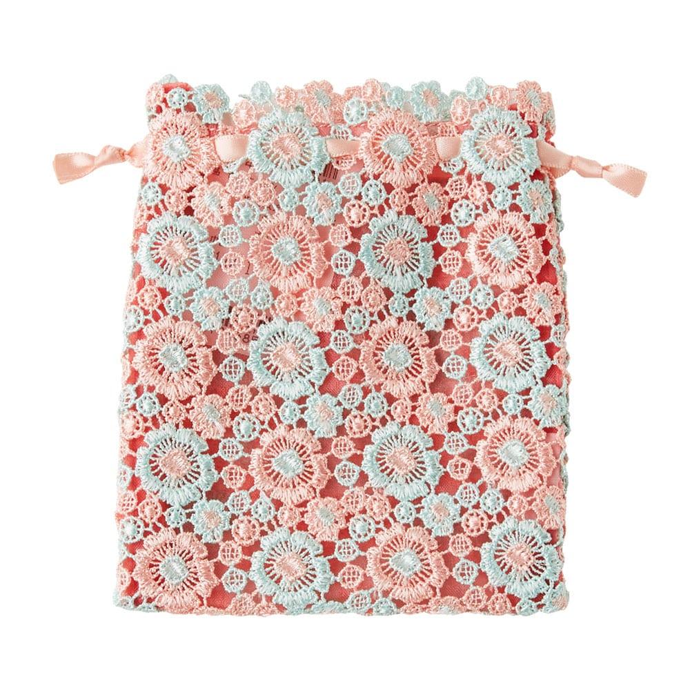 ペチュニアレース 巾着 ピンク