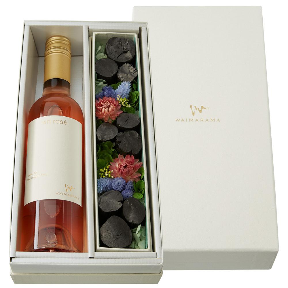 「vin rose 2019(ロゼワイン)」ハーフ「銀座紀州備長炭ショップ 掌」コラボセット