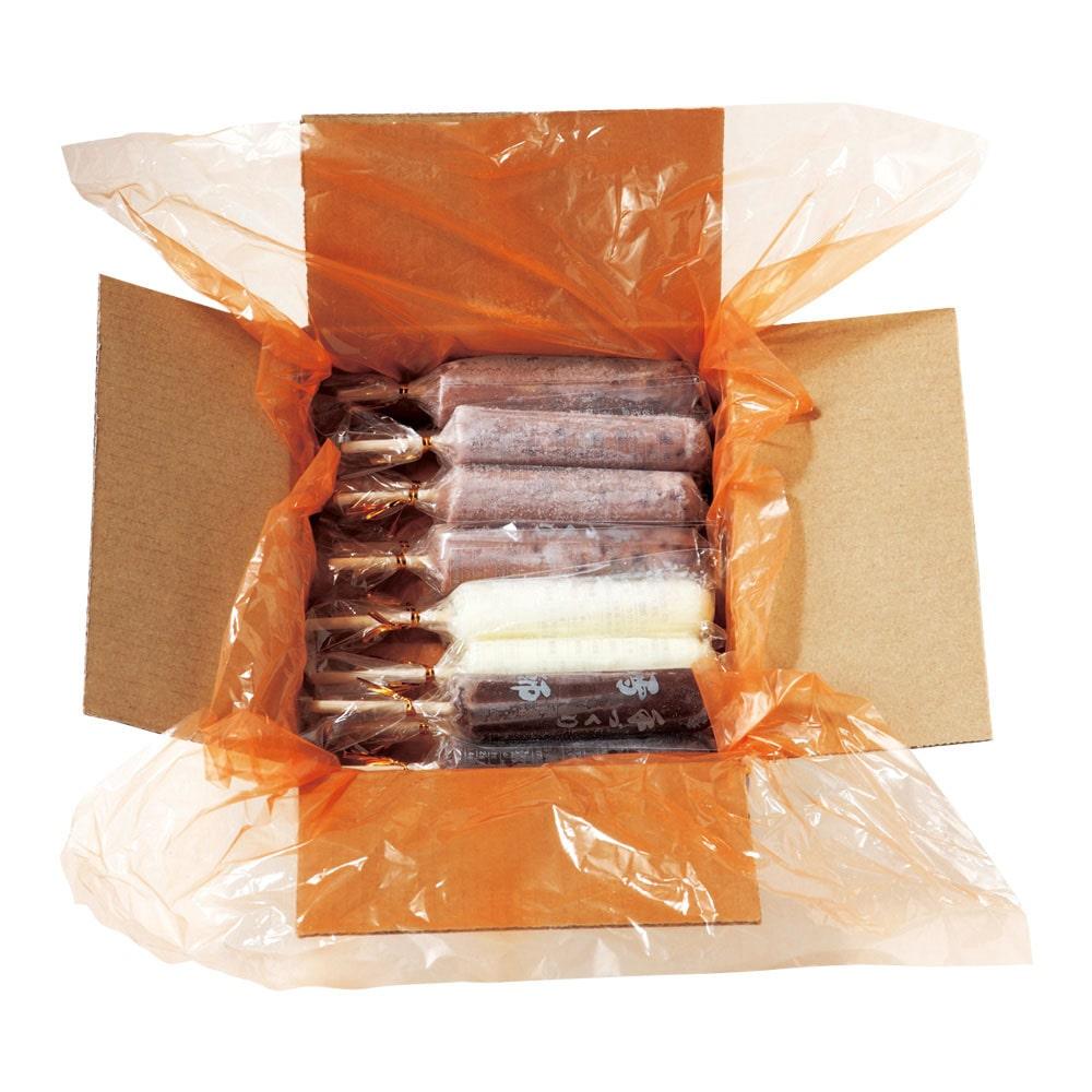 手づくりアイスキャンディー雪師3品セット 15本入り