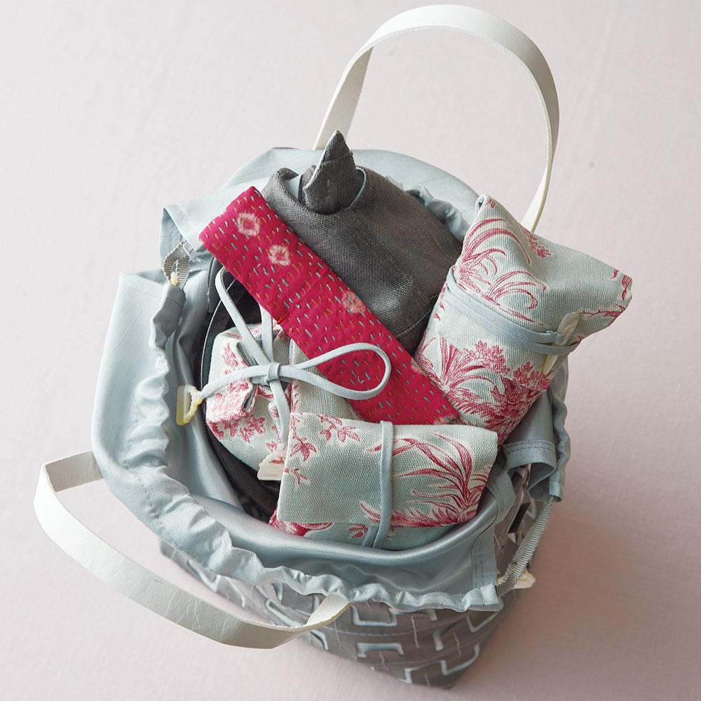 旅持ち茶箱「シンデレラの宝袋」