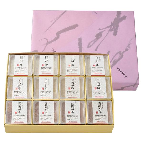 福井県産コシヒカリ使用 おかゆ3種(12個入り)