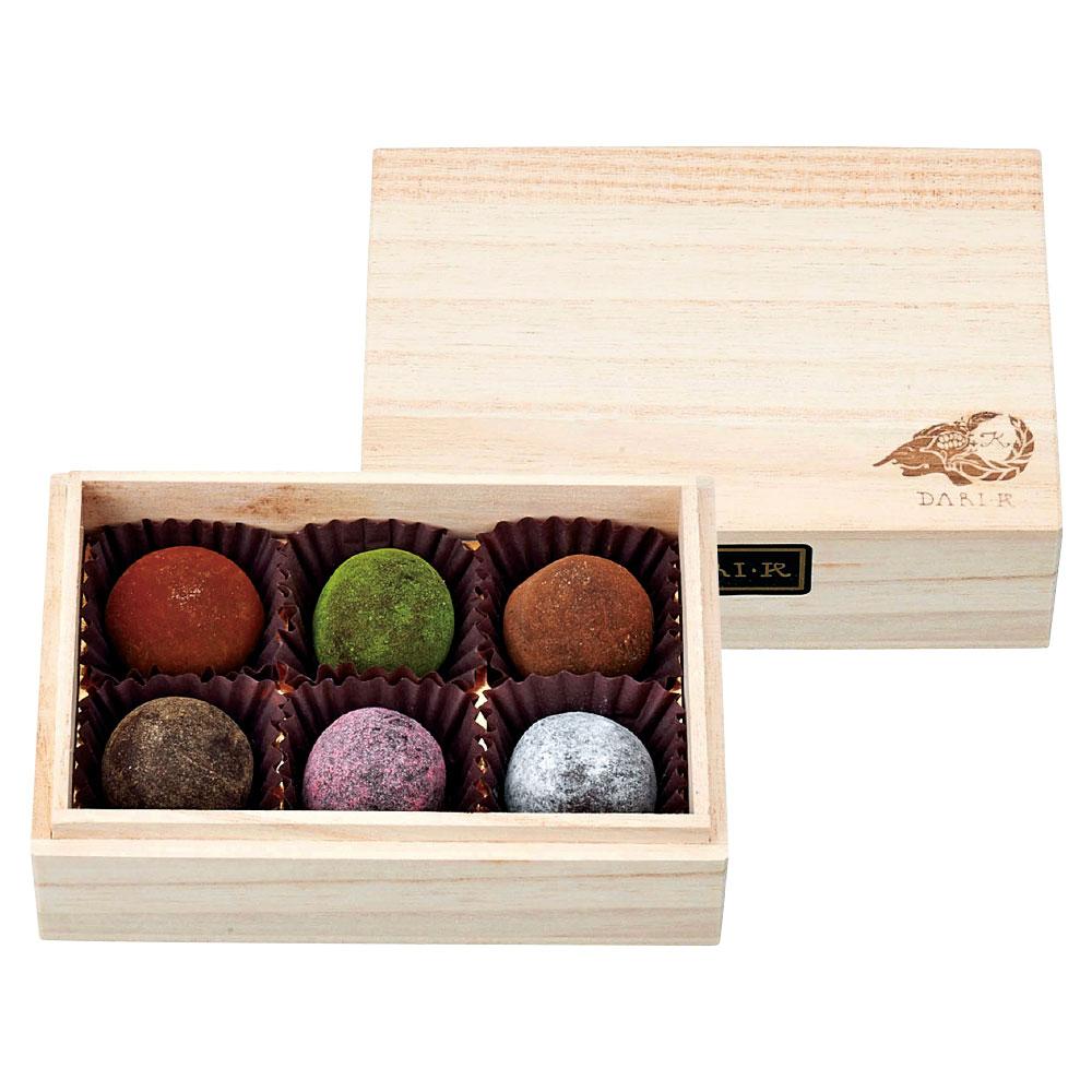 カカオが香るチョコレート・トリュフ 6粒(木箱入)
