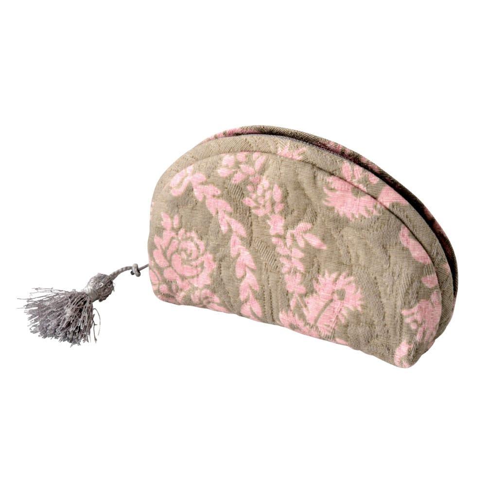 フレンチ柄ミニポーチ ピンク 母の日カード付