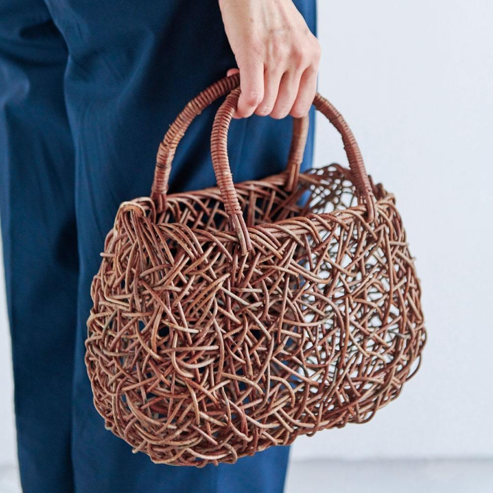あけび乱れ編み 籠バッグ