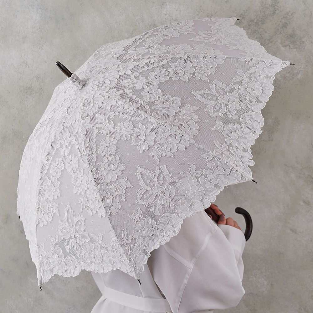 リヨンレース日傘 グレー