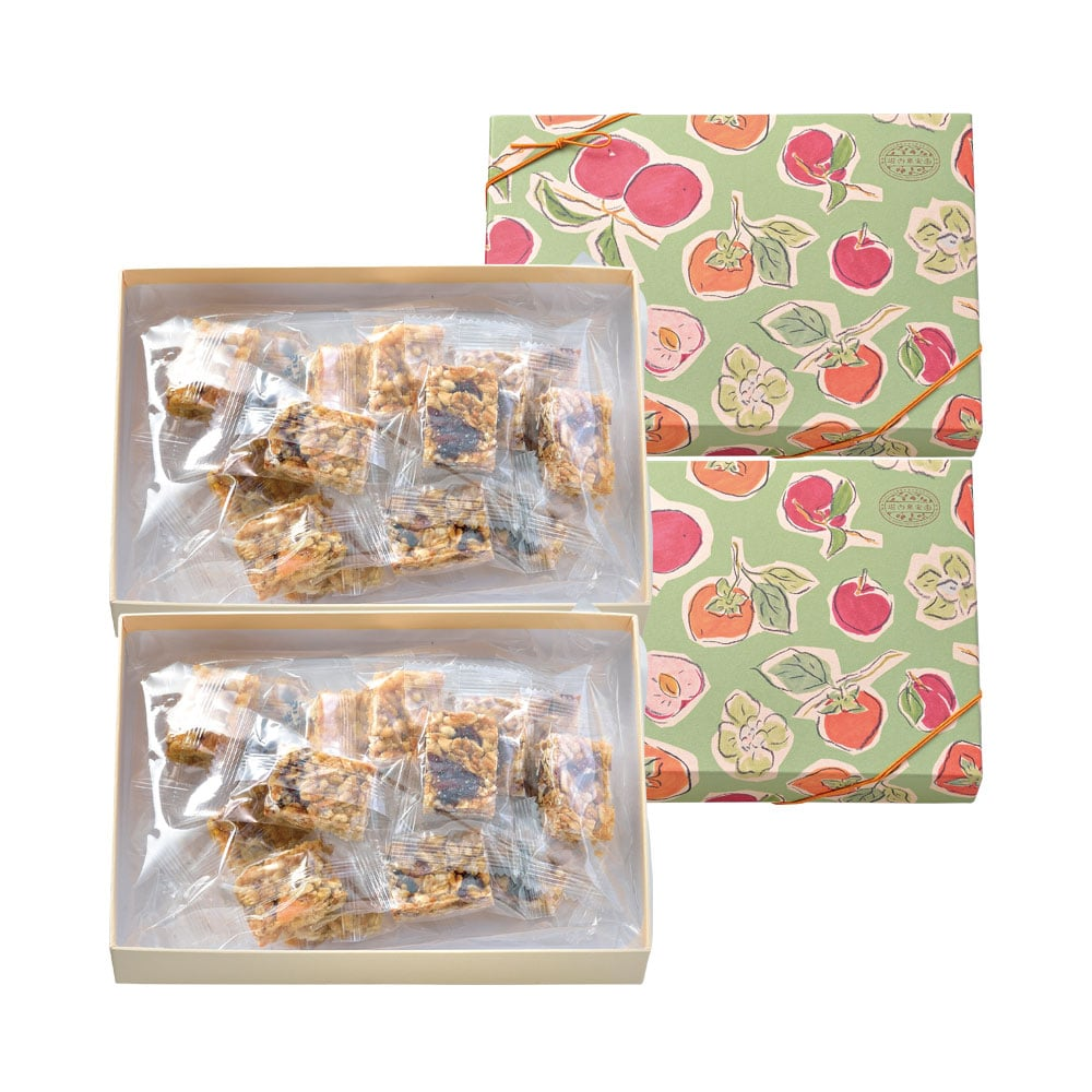 くだものナッツおこし(柿とくるみ・すももとグラノーラ)2種アソート 2箱セット