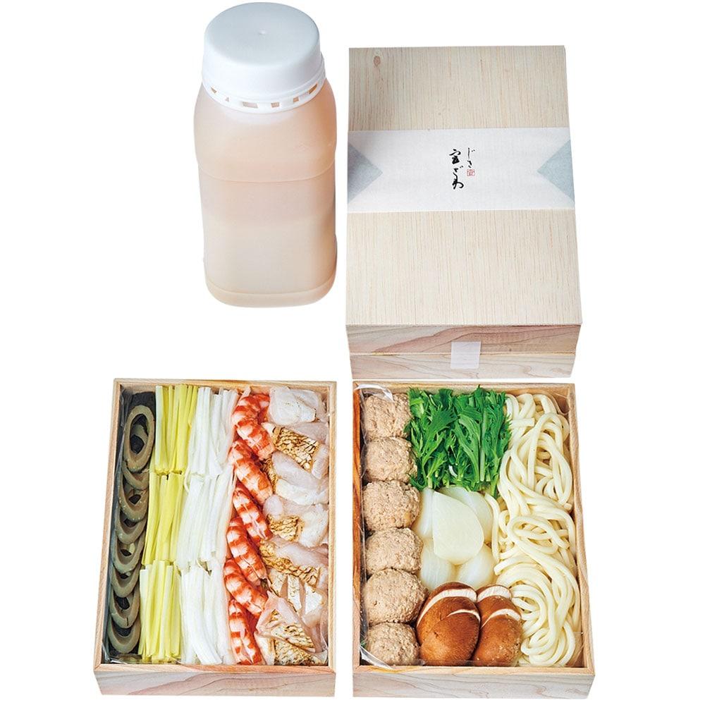 クエと車えびの養生鍋〜白味噌仕立て〜