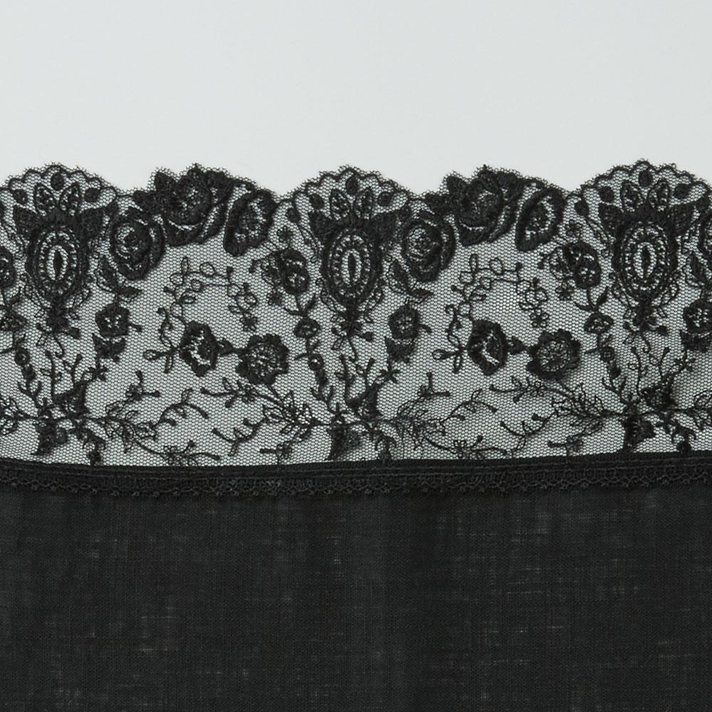 ポアン・ド・アランソン ひざ掛けハンカチ ブラック
