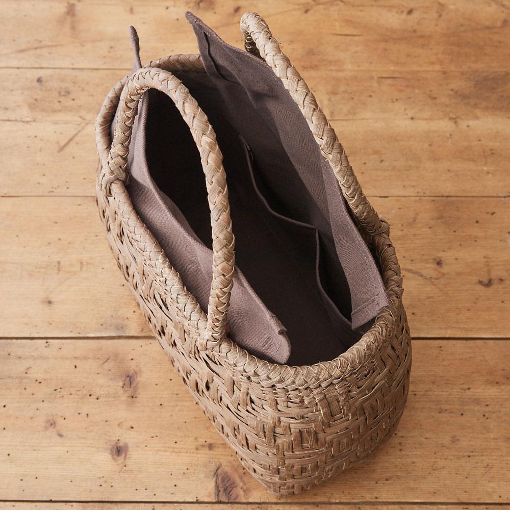 山ぶどう籠バッグ 亀甲編み