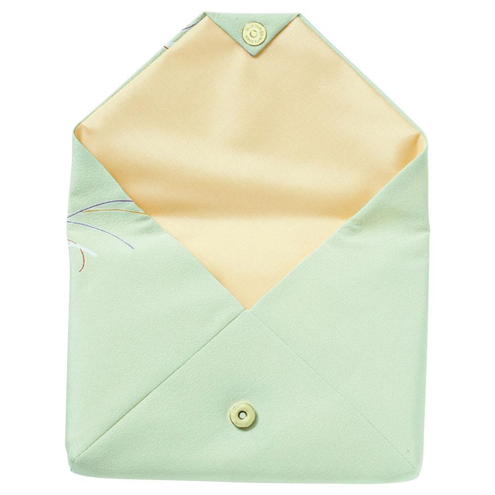 京友禅の数奇屋袋 グリーン