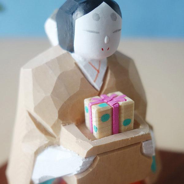 奈良 一刀彫 月こよみ+鏡富士形しき板