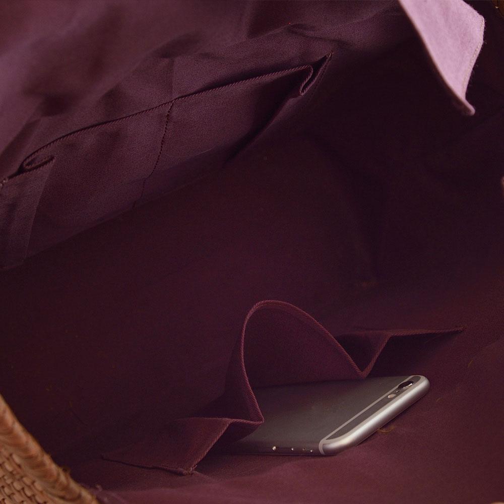 山ぶどう籠バッグ 極細網代編み