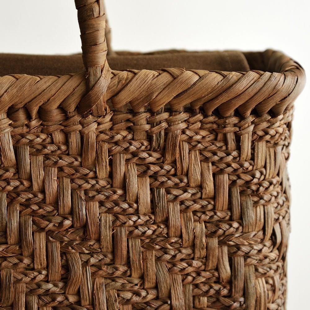 山ぶどう籠バッグ 三つ編み菱形網代編み
