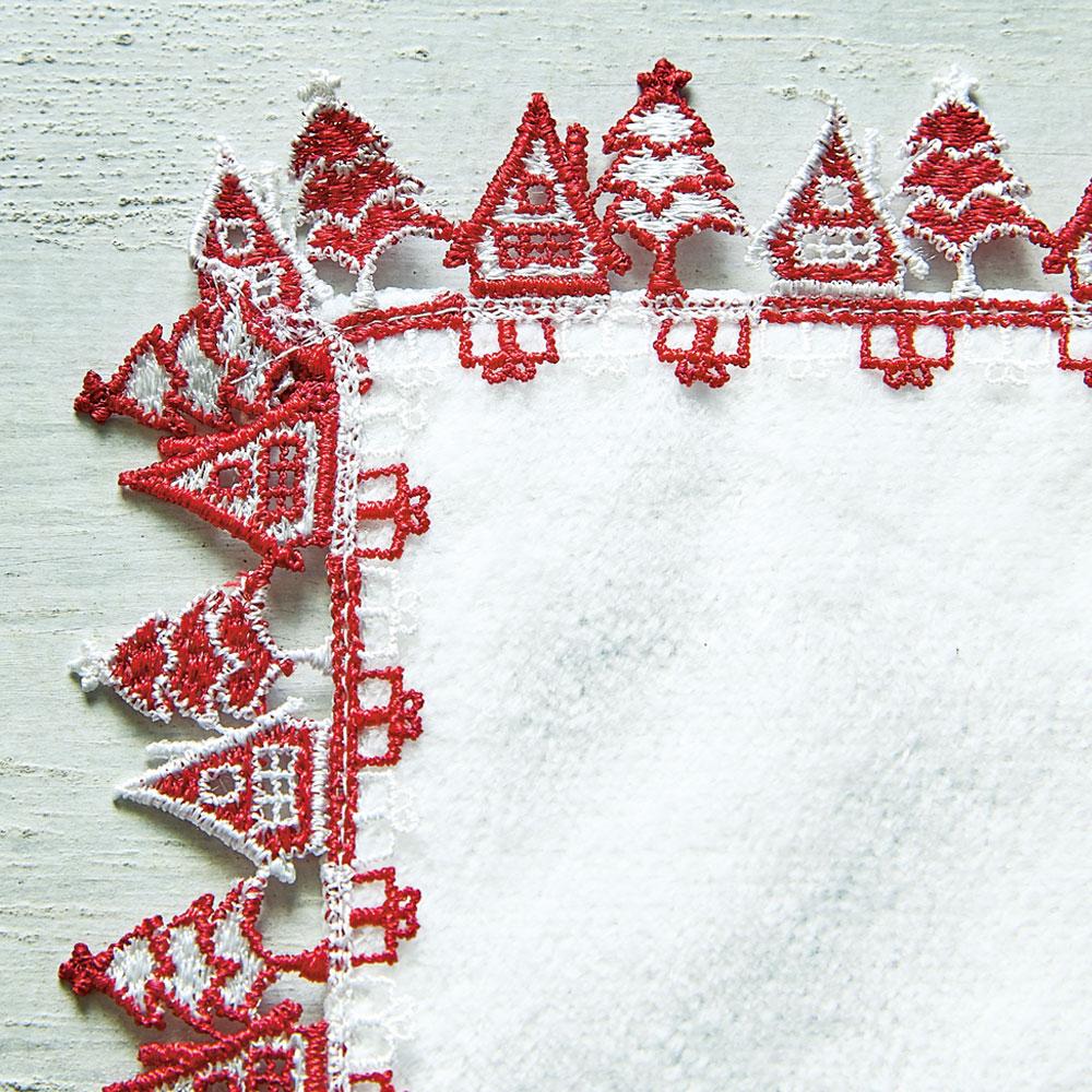 クリスマスセット(メッシュポーチ・ミニタオルハンカチ) レッドセット