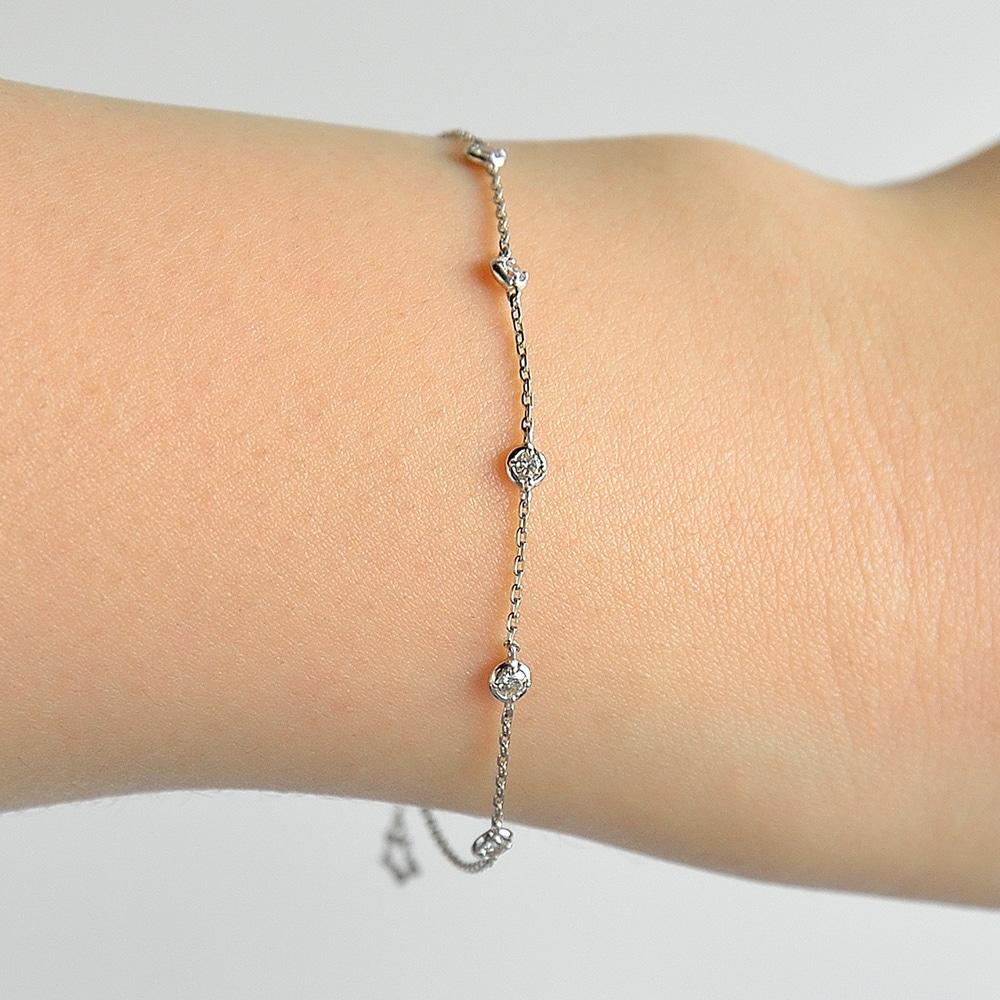 Twinkle twinkle プラチナ900ダイヤモンドブレスレット