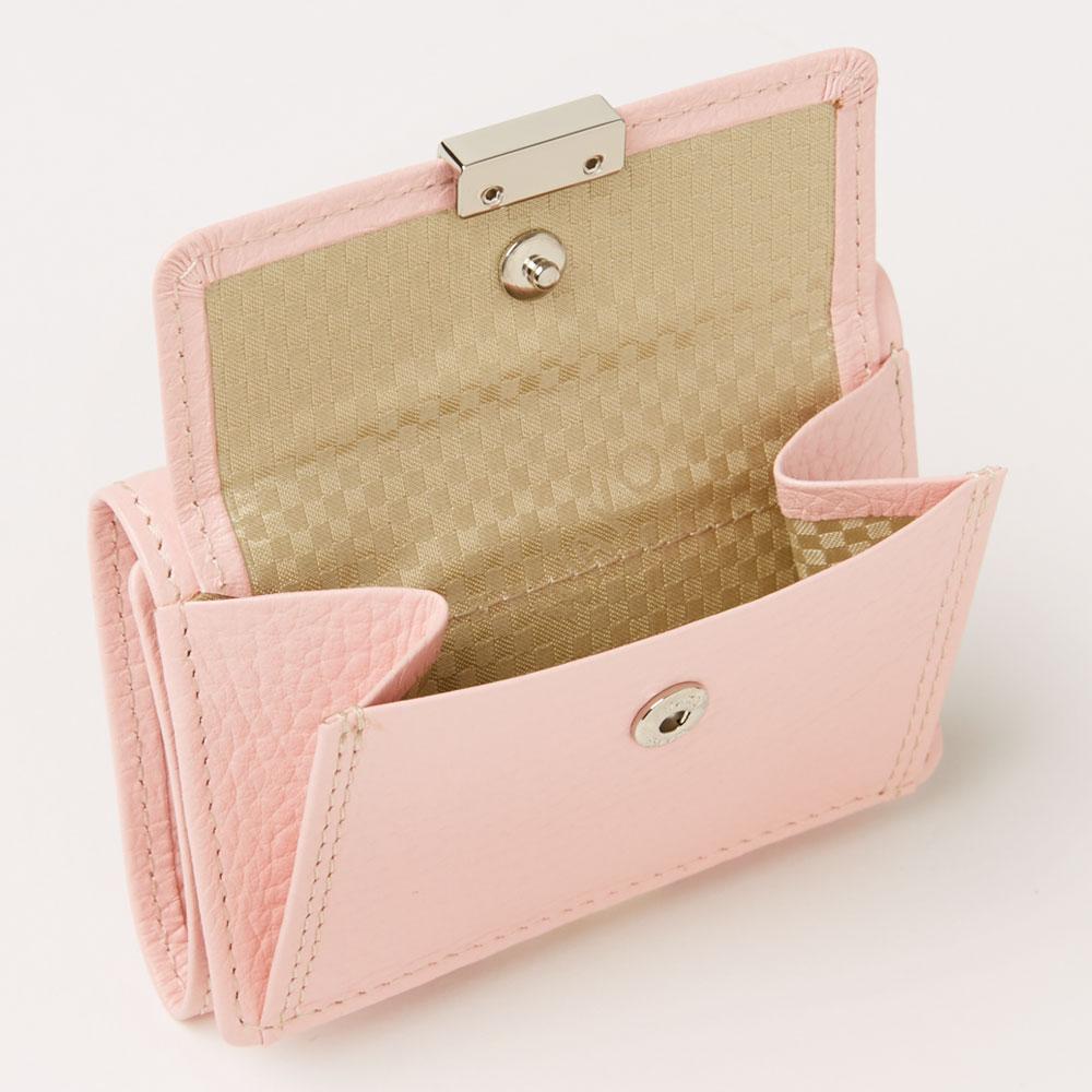 三つ折り財布 ピンク