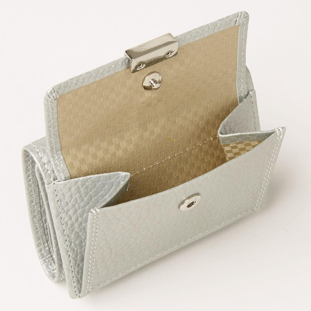 三つ折り財布 シルバー