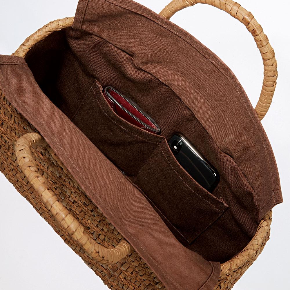 山ぶどう籠バッグ 三つ編み文庫網代