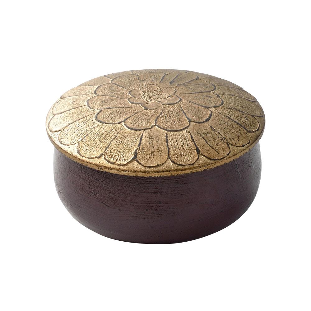 中村彩子さんの 漆のキャンディボックス パープル×ゴールド