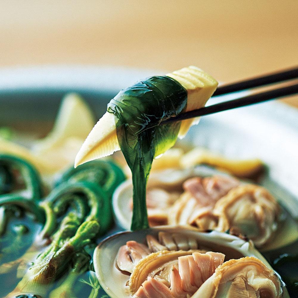 蛤と若筍の養生鍋