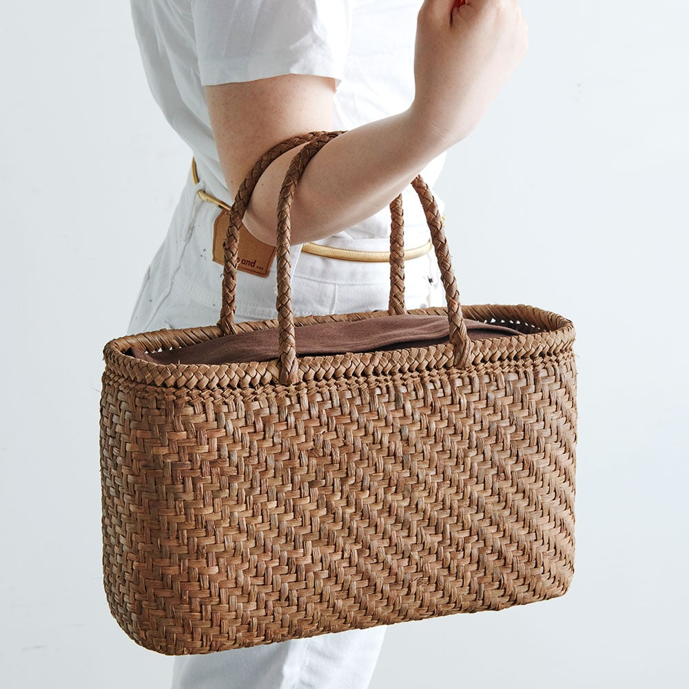 山ぶどう籠バッグ 横長網代編み