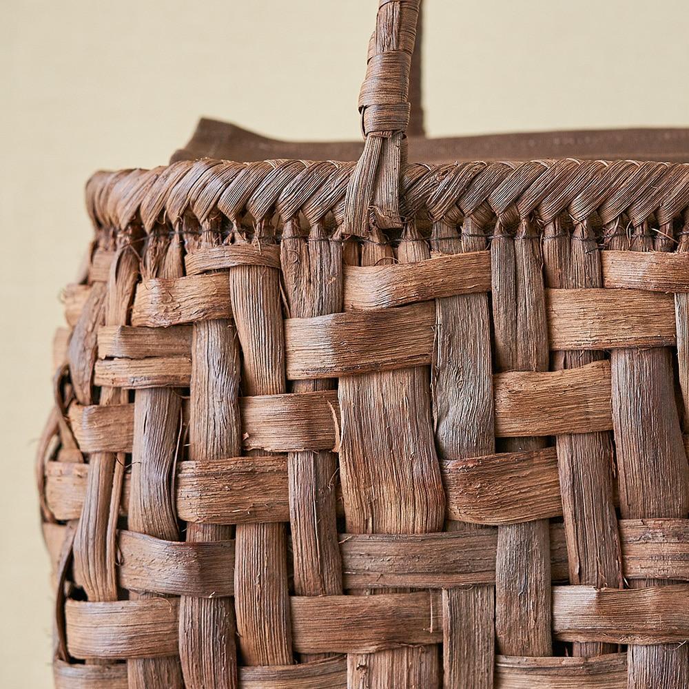 山ぶどう籠バッグ 乱れ編み