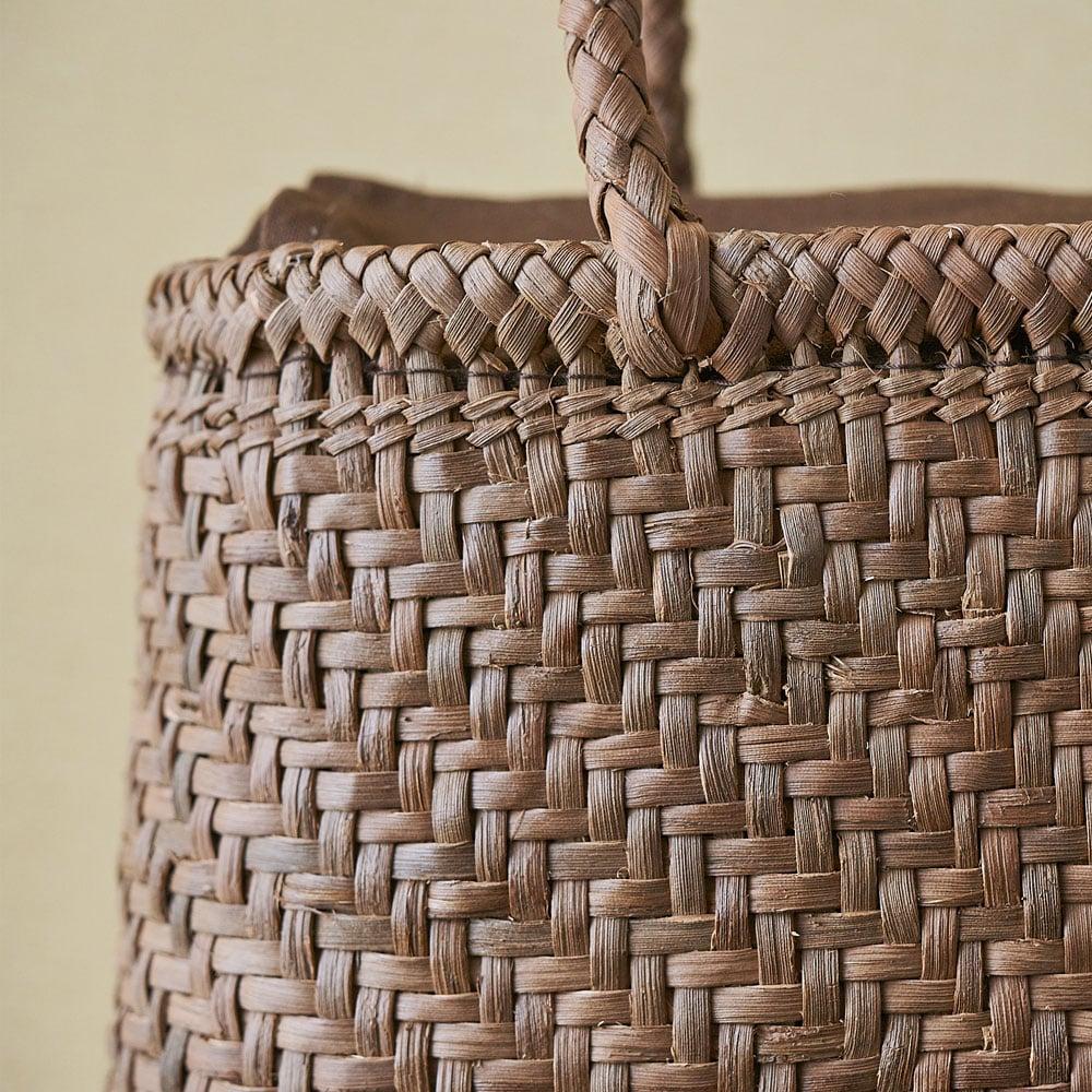 山ぶどう籠バッグ 網代細編み(小判型)