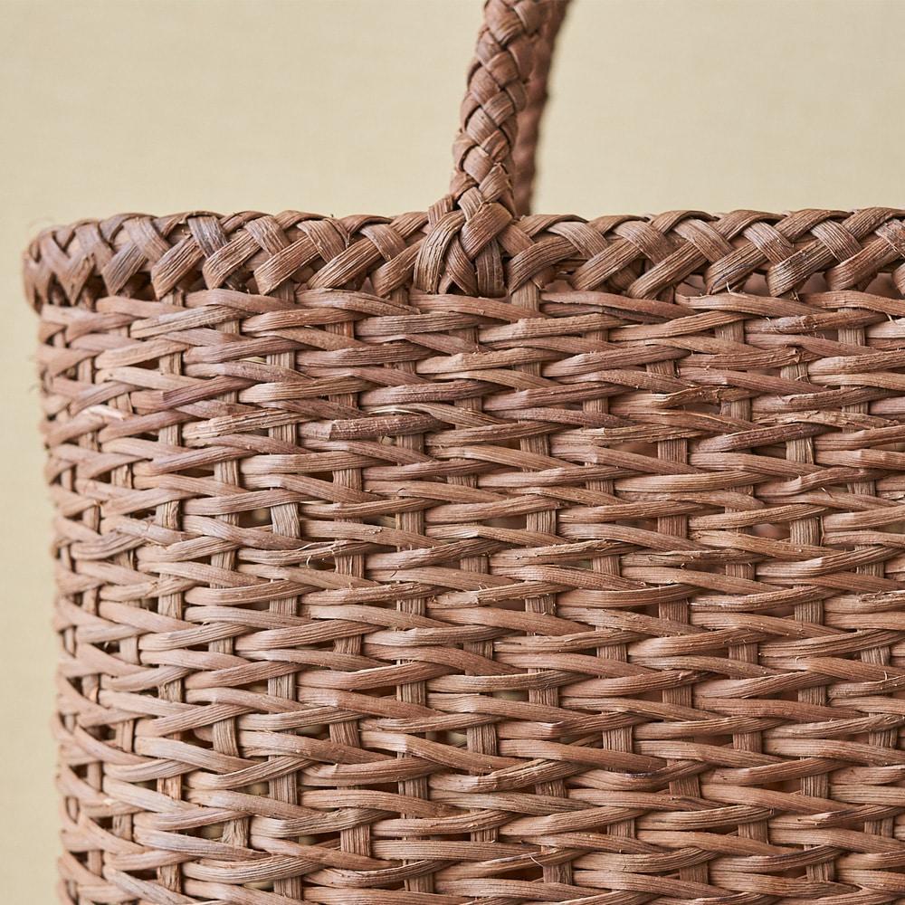 山ぶどう籠バッグ 青海波(せいがいは)編み