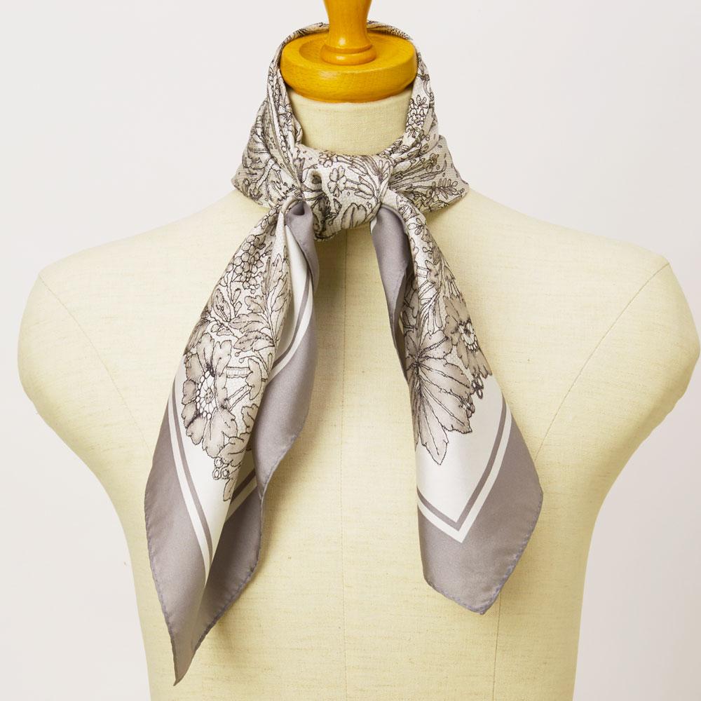 武蔵野(むさしの)&アンティークレース柄捺染スカーフセット