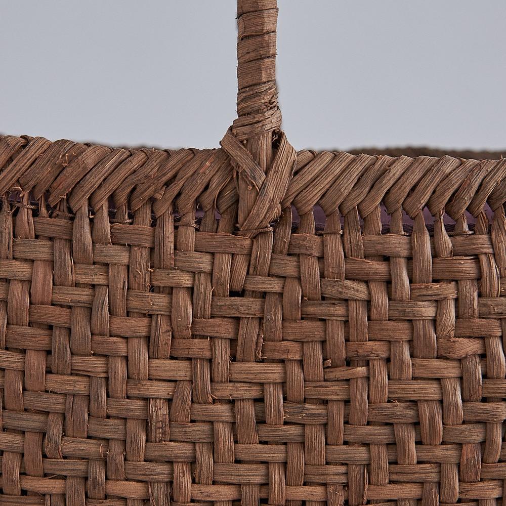 山ぶどう籠バッグ 網代編み(丸口大)