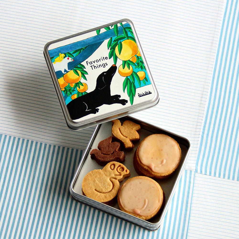 フェイバリットシングスシリーズクッキー缶&バッグセット「もも」