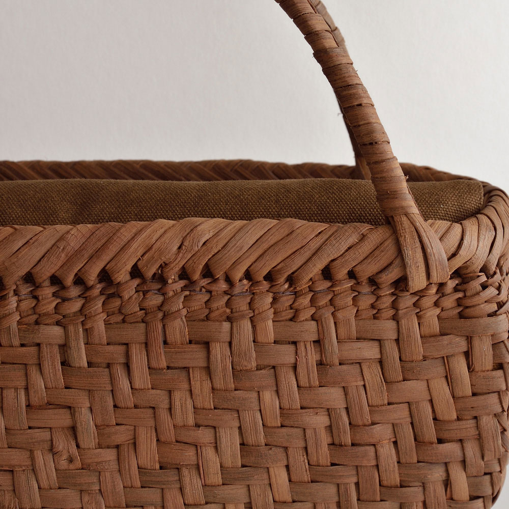 山ぶどう網代舟形籠バッグ