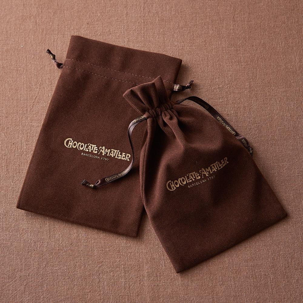 リーフチョコレート 大缶2缶特製ギフトボックスセット 巾着袋付