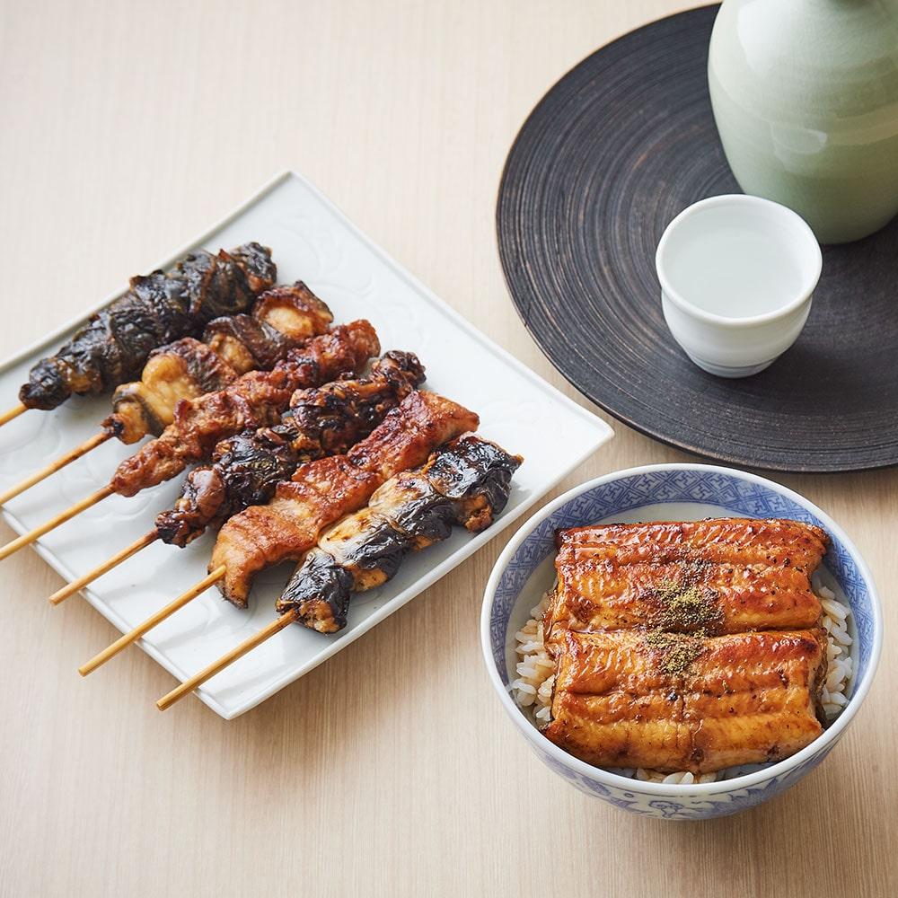 国産うなぎ蒲焼き2枚・串焼き6 種セット