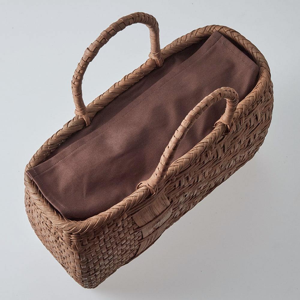山ぶどう籠バッグ 亀甲網代編み