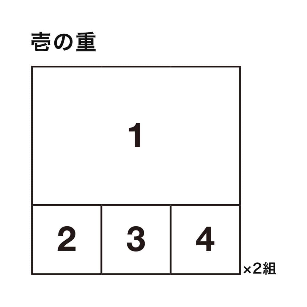 婦人画報のおせち ミニ和二段重×2組(2人前)