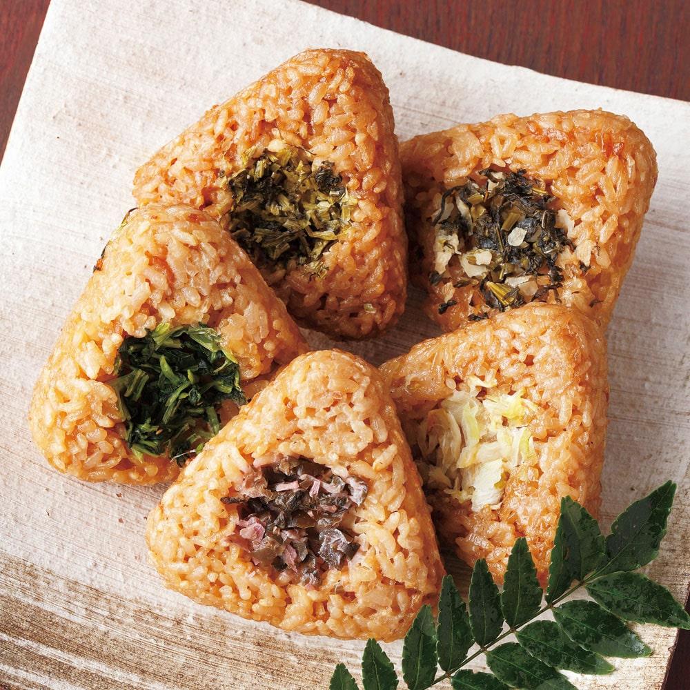 京漬物が入った京都米の焼おにぎり(5種)