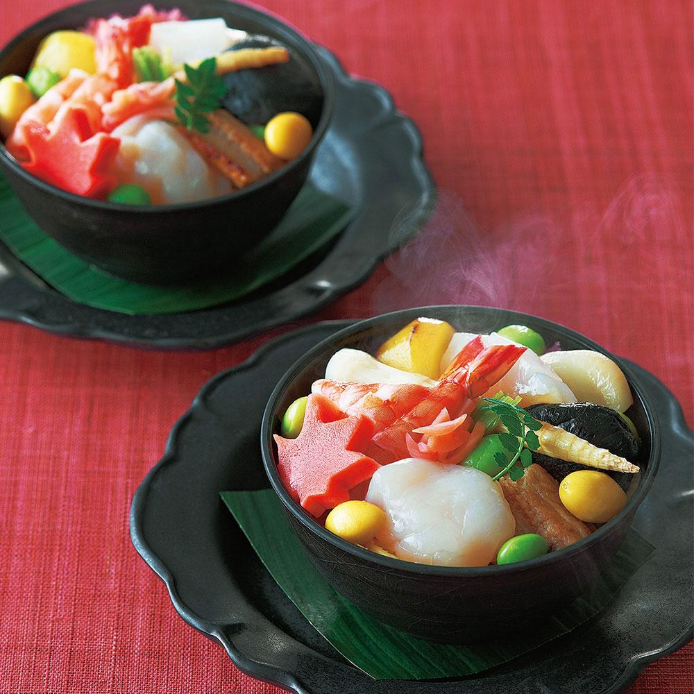 蒸し寿司(ぬくずし)