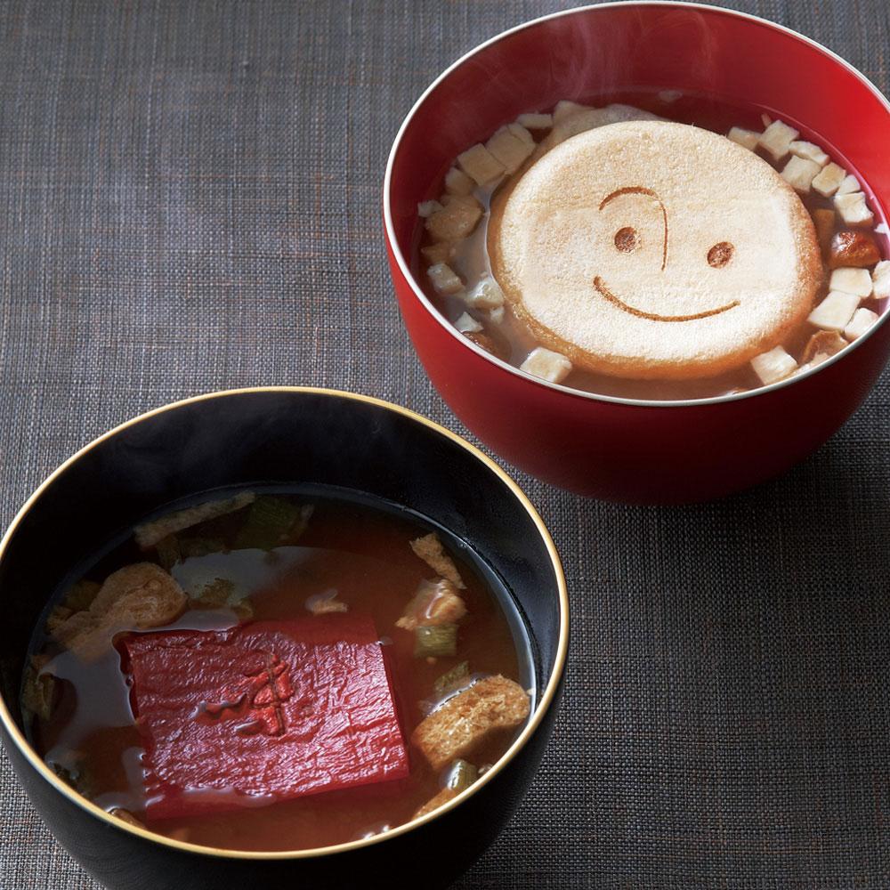 美噌汁最中、湯葉で包んだお味噌汁、マゴコロ入り