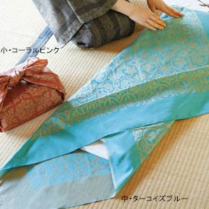 正倉院柄風呂敷(桐箱入)大・ターコイズブルー