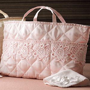 バッグインバッグ&タオルハンカチセット ピンク