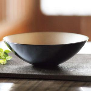 山中塗 内錫 6寸鉢