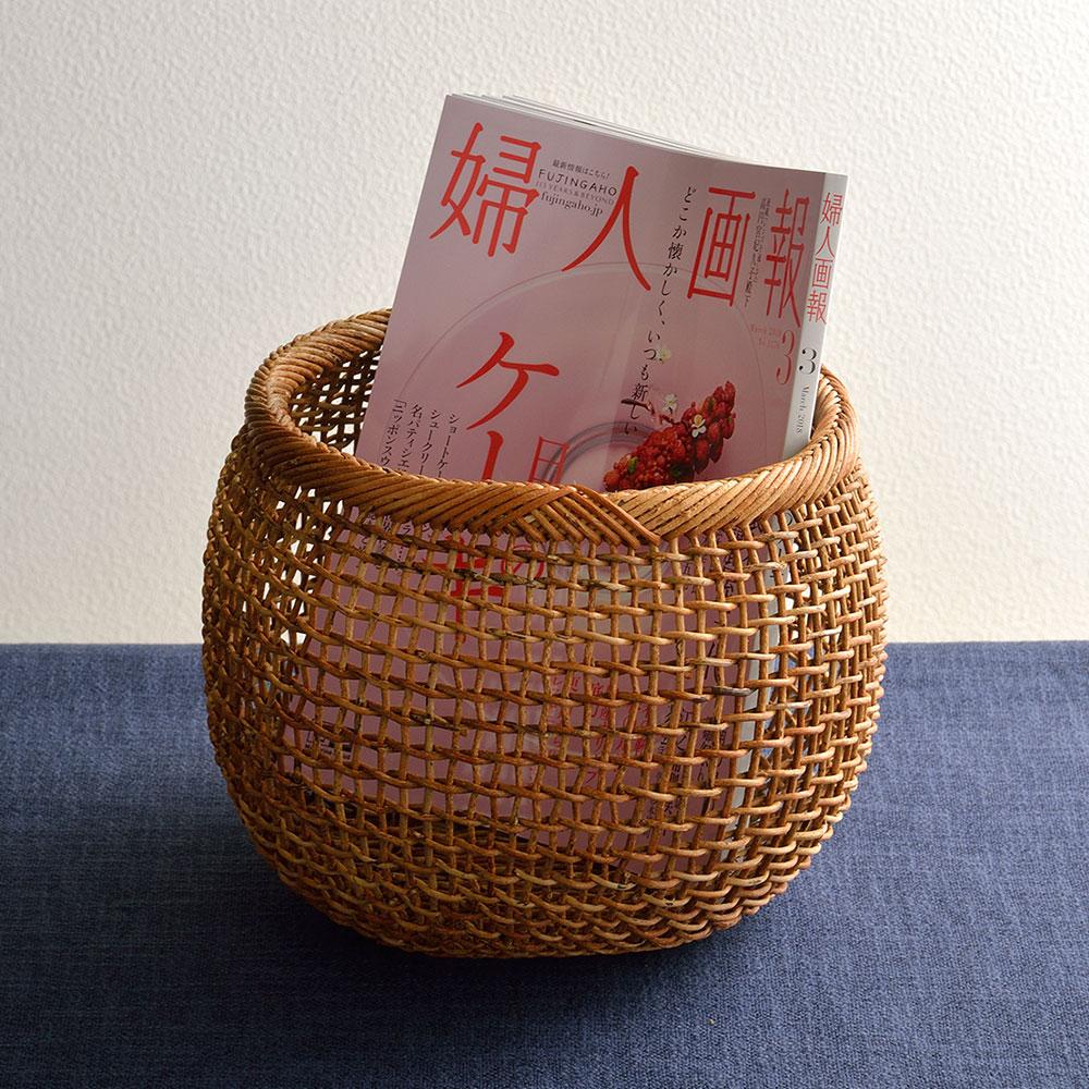 中川原さんのあけびの丸籠(中)