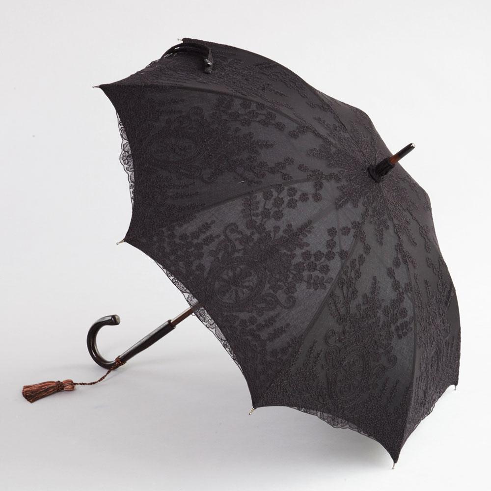 シャンテリー長日傘 黒×黒